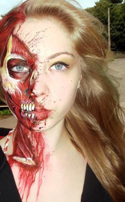 phrases tattoos for girls: girl zombie makeup