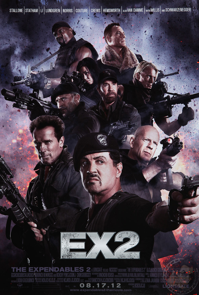 The Expendables 2 poster The Expendables 2   Fan made poster
