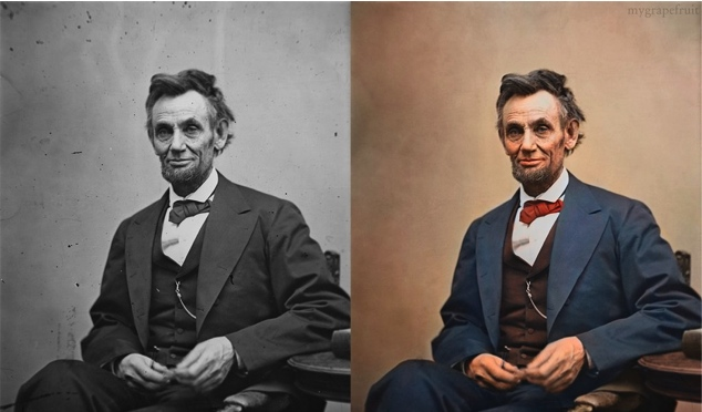 Colorized abraham lincoln 10 iconic portraits with realistic colorization